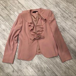 Anne Klein Pink Ruffle blazer
